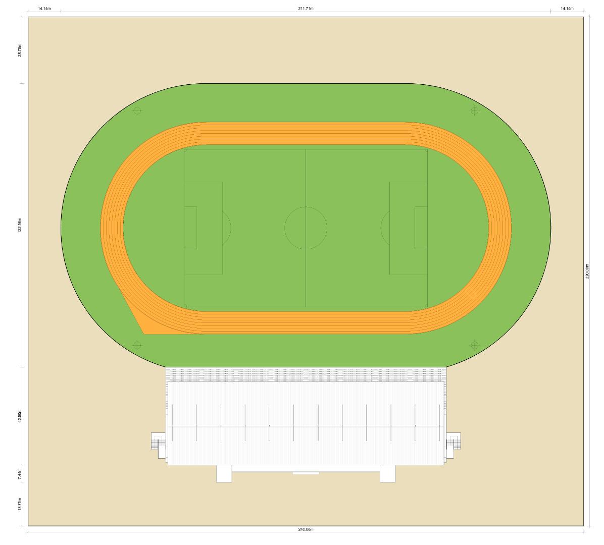 Implantação - Estádio Citius